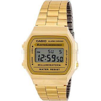 dc6c885559d5 Compra Reloj Casio Retro A-168WG-9 para Dama-Dorado online