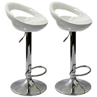 Compra set de 2 bancos para barra portrading 103 blanco - Sillas de barra de bar ...