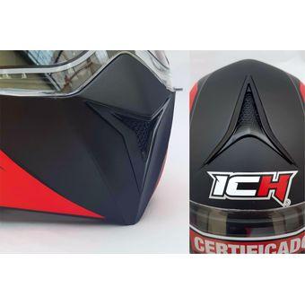 b112568e Compra Casco Certificado Abatible Para Moto Ich 3110 Rojo online ...