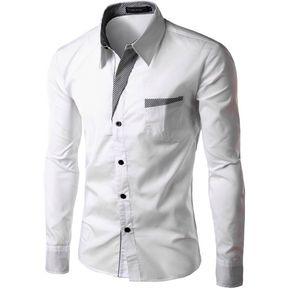 Camisa De Manga Larga 360DSC Para Hombre - Blanco 930e9c91629