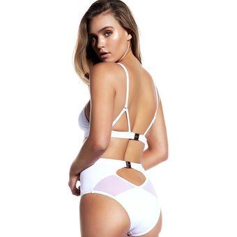 88217c6df8df Traje De Baño Para Mujer Bikini Mariposa Atractivo Con Malla -Blanco