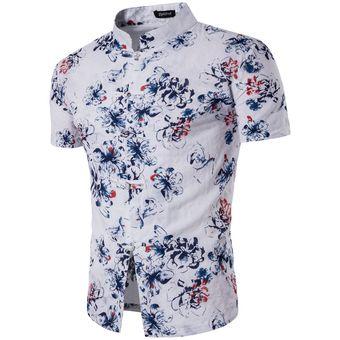 Compra Hombre Floral Verano Estampado Con De Para Camisa rAw7fqr