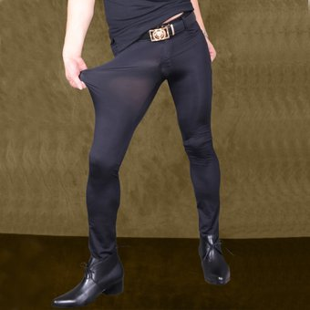 Sexy Para Hombre Transparente Pantalones De Seda De Hielo Ver A Traves De Elastico Apretado Pantalones Sedosos Lapiz Lenceria Erotica Club Ropa Para Gais F90 Negro Linio Peru Un055fa1c3wpdlpe