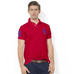 Playera Polo By Ralph Lauren Custom Fit Color Rojo Con Azul 64e205cb5e860