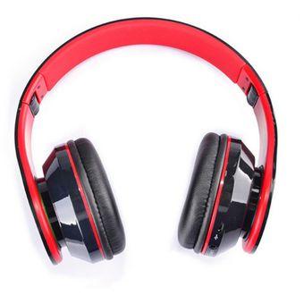 bae8bf19837 AT-BT809 Auricular estéreo sin hilos plegable del receptor de cabeza de Bluetooth  Mic FM