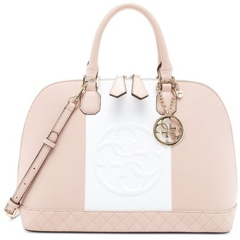 b31f163d4 Compra Guess - Cartera Mujer Amy Dome Satchel - Rosa Y Blanco online ...