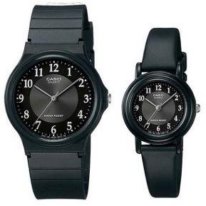 7143367f7d1e Pareja De Relojes Casio MQ24 Y LQ139 Caucho-Negro Con Gris