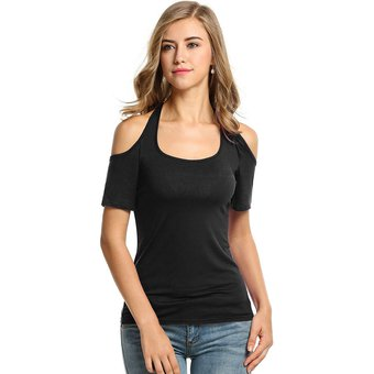 Para Camiseta Out Mujer Hombros Cut Con UMGSqVzp