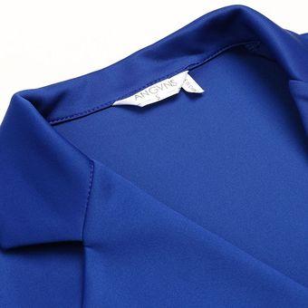 de321b8838 Compra Chaqueta Blazer Manga Larga Casual para Mujer - Azul oscuro ...