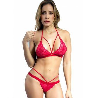 a885c07da7 Compra Conjunto Woman Sexy 008 Lenceria Ropa Interior Mujer - ROJO ...