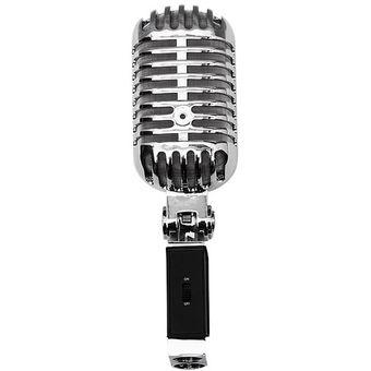 Compra Microfono Retro Estilo Elvis De Metal Cromado Con Condensador