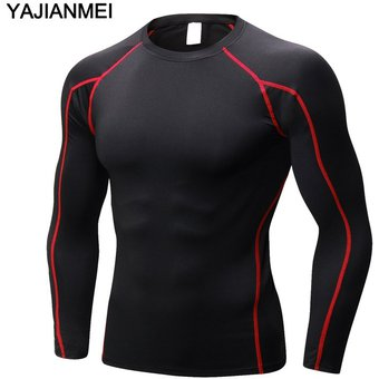 Altamente elástica hombres Manga Larga Camiseta deportiva ejecuta T-shirts  Gimnasio Sports Inicio Rojo c185ceba6aabb