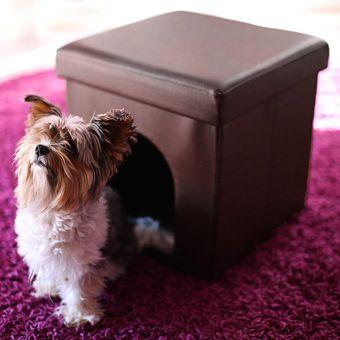 Compra Casa Puff Cubo Mascotas Pequeas CAFE online Linio Colombia