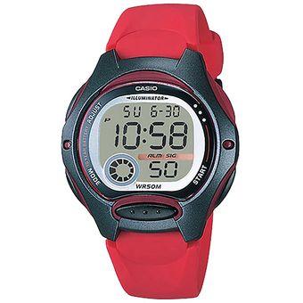 2cd556a6d470 Reloj CASIO LW-200-4AVCF ILUMINATOR Collection Digital Multifunción-Rojo