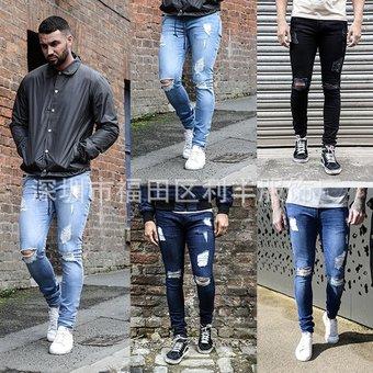 6c2ba58944 Compra Calidad Pantalones De Mezclilla Para Caballero Jeans Hombre ...