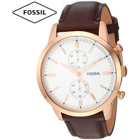 84b943a1be68 Reloj Fossil Townsman FS5468 Cronometro Correa De Cuero - Marron