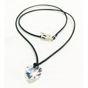 b36c8b6b9563 Collar Corazón - Aurora Boreal Con Cristales Swarovski