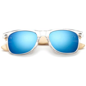c2ba0f14be76b Agotado Bambú Gafas De Sol De Madera Gafas Espejo Los Anteojos HD Lentes  -Transpare