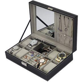 5cda69fc899d Caja De Reloj De 8 Cuadrículas+2 Cuadrículas Caja De Anillo De Presentación