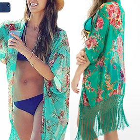 e5b3e1f3c Kimono Cárdigan Salida de Baño - Ropa de playa para Vestido de Baño Bikini