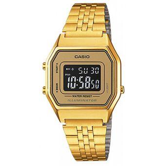 Compra Reloj Casio LA-680WGA-9B De Mujer-Dorado online  85b77a5e4e1e