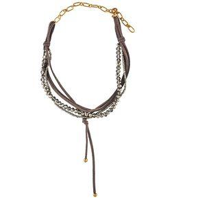 85e70d5c6360 LuckyLy – Collares De Moda – Carole Tipo Choker – Gamuza Con Piedras Estilo  Swarovski