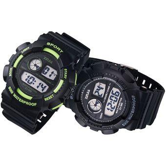 detallado 3e3f8 79ccf Reloj Digital XINJIA Sport Watch Sumergible, Luz Led Cronometro Alarma