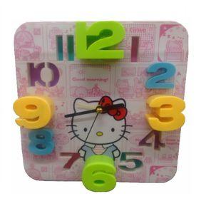 77145c54c Reloj Despertador De Hello Kitty Con Números 3D Y Alarma De Sonido