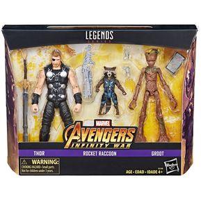 Figuras Thor Rocket Raccoon   Groot Avengers Marvel Hasbro 206e1f8c1f7f