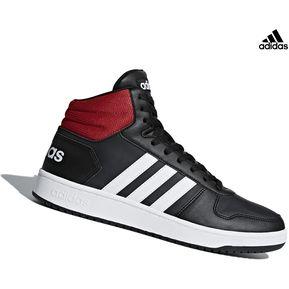 sale retailer 8da1e be45b Botin Adidas Hoops 2.0 Mid Para Hombre - Negro Y Rojo