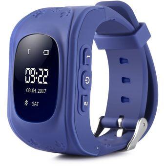 Reloj Inteligente Teléfono Pantalla OLED GPS Q50 Para Niños- Azul Profundo 9d3b14cd8202