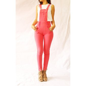 Compra USAFRICA - PANTALON OVERALL DRILL STRETCH DAMA - CORAL online ... 96a4c8aa82c9