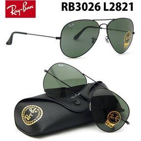 Lentes De Sol Ray Ban Aviador RB3026 L2821 Large Metal Black Negro 62mm 8f45634c22