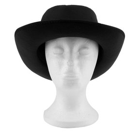 ER Moda Mujer Sombrero De Fieltro De Ala Ancha Piscina Sun Beach Vacation  Travel -Negro 33ed0694974a