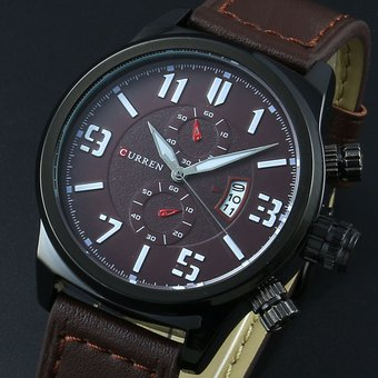 6eb7894a89ac Compra Reloj Con Esfera Grande CURREN   8200 Para Hombre-Marrón ...