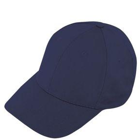4328d07aff62c Gorra Cachucha Confeccionada en Poliester 6 Cascos - Azul Oscuro