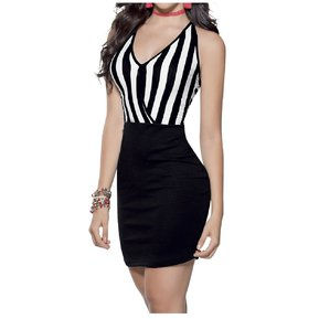 df4391544 Vestido Adulto Femenino Marketing Personal 55754 Blanco Negro