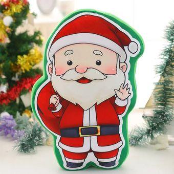 Imagenes De Papa Noel De Navidad.Almohadas Regalos De Navidad Para Hogar Y Fiesta Papa Noel 45cm Con Musica