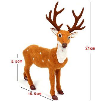 Compra Navidad Simulacion Ciervo Navidad Decoracion Tamano 21 15 - Ciervo-navidad