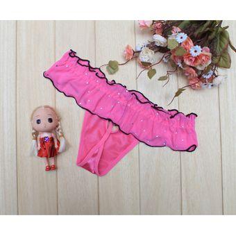 c455611c8ce3 Calidad Lencería Sexy Calzones Perspectivas Para Mujer Ropa Interior  Lace-rosa