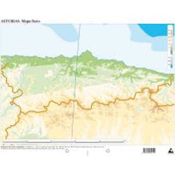 Mapa De Asturias Fisico.Mapa Fisico Asturias