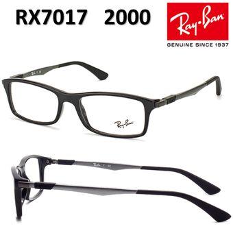 04fa08e0411bf Agotado Lentes De Medida Oftálmico Montura Ray Ban RX7017 2000 Negro Black  54mm