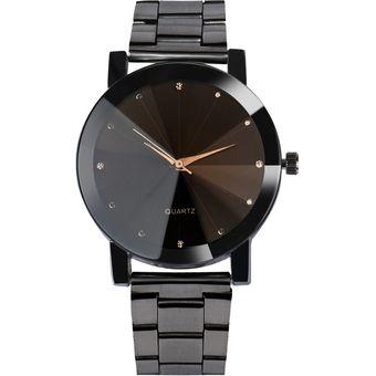 162ace95c1a8 Compra Reloj Cristal Acero Inoxidable Cuarzo Analógico Hombre-negro ...