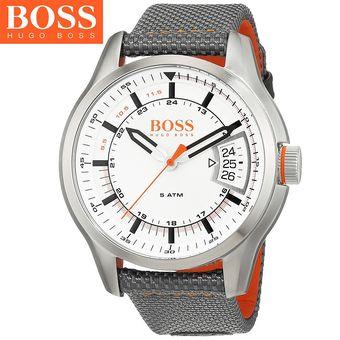42125a1af853 Agotado Reloj Hugo Boss 1550015 Hong Kong Acero Inoxidable Correa De Nailon  - Gris Naranja