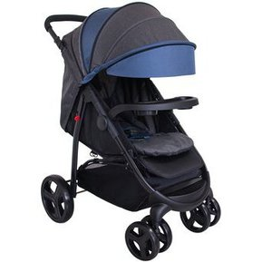 035accd46 Coche Cuna Ebaby SAYARE Deluxe / Cubrepies-Azul/Gris