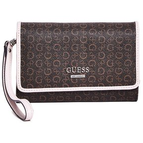 8166731dc Billetera Guess Mujer - Gilmore Logo Smartphone Wristlet - Marron