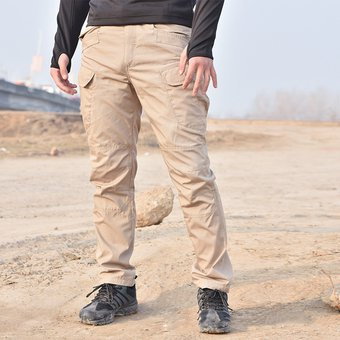 Bolsillo Multiple Elastico Pantalones Tipo Cargo Para Hombre Caqui Linio Peru Ge582fa18btkrlpe