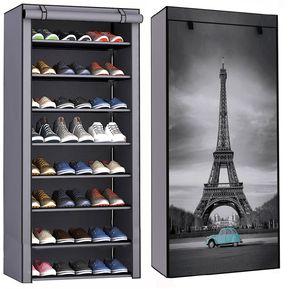 ad5723be Zapatera 8 Repisas Torre Eiffel 24 Pares Organizador Zapatos Niveles