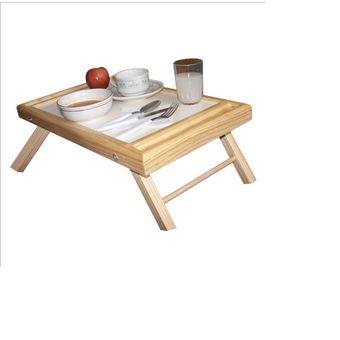 Mesa de madera para servicio en cama vida digna blanca - Mesa auxiliar de cama ...
