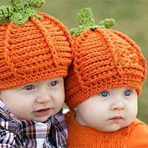 EH Lindo Bebé Recién Nacido Halloween Partido Sombrero De Calabaza Cómodo  Crochet Hecho Punto - Naranja d870b2f4058